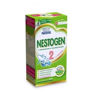 """""""NESTOGEN 2""""  Nestle сухая молочная смесь с пребиотиками с 6 месяцев. 350 г."""