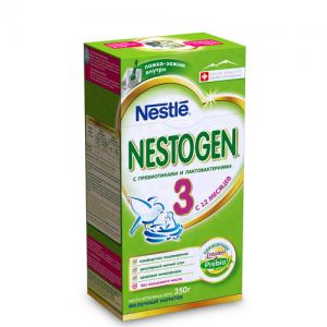 """""""NESTOGEN 3"""" Nestle сухая молочная смесь с пребиотиками с 10 месяцев 350 г."""