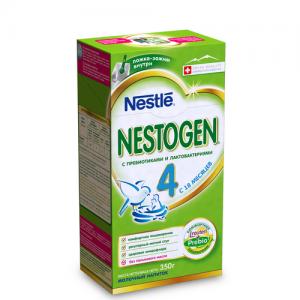 """NESTOGEN 4""  Nestle детское Молочко с Пребиотиками с 18 месяцев 350 г."
