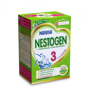 """""""NESTOGEN 3"""" детское молочко с Пребиотиками с 12 месяцев 700 г. (2*350 г.)"""