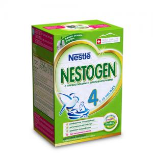 """""""NESTOGEN 4"""" детское молочко с Пребиотиками с 18 месяцев 700 г. (2*350 г.)"""
