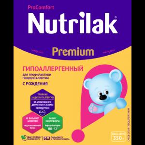 """""""Nutrilak Premium Гипоаллергенный"""" с Рождения 350 г."""