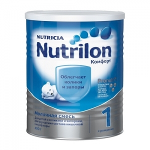 """""""Nutrilon COMFORT 1"""" сухая смесь для здоровых детей с рождения 400 г."""