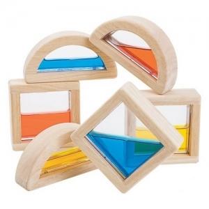 PLAN TOYS Деревянная игрушка Конструктор-Блоки с водой 5523