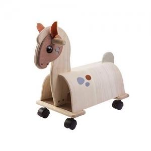 PLAN TOYS Деревянная игрушка Каталка на колесиках Маленький пони 3473