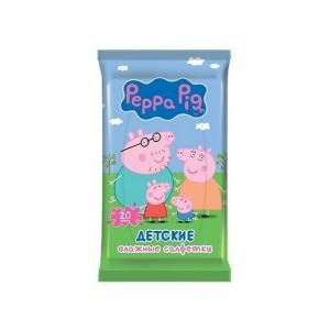 Салфетки детские влажные Peppa Pig 20 шт.