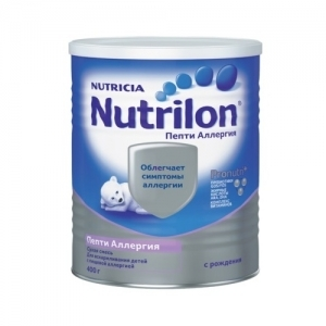 """""""Nutrilon Пепти Аллергия"""" для детей с пищевой аллергией с Рождения 400 г."""