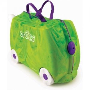 TRUNKI чемодан на колесиках Динозавр, зелёный (до 36 кг)  0066- GB01