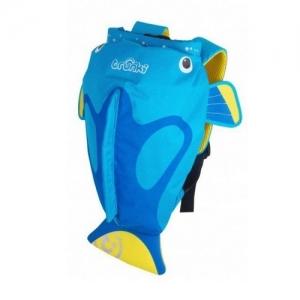 TRUNKI Рюкзак для бассейна и пляжа Коралловая рыбка, голубой  0173-GB01