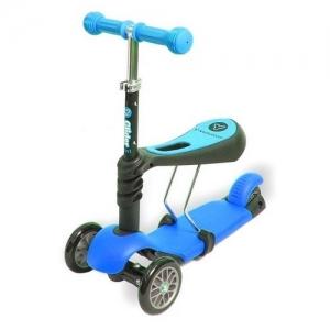 Yvolution Самокат Glider 3 в1 синий