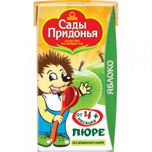 "Сады Придонья пюре ""Яблоко"" без сахара с 4 месяцев 125 мл."
