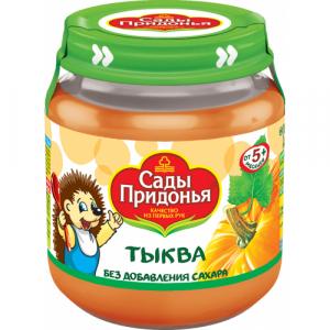 """""""Сады Придонья"""" пюре 'Тыква' без сахара с 5 месяцев 120 г."""