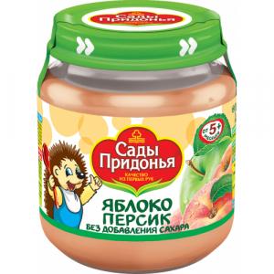 """""""Сады Придонья"""" пюре 'Яблоко Персик' без сахара с 5 месяцев"""