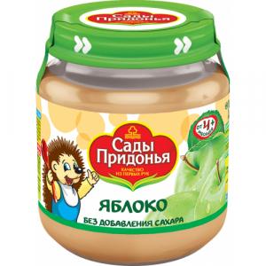 """Сады Придонья"" пюре 'Яблоко' без сахара с 4 месяцев 120 г."
