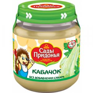 """""""Сады Придонья"""" пюре Кабачок без сахара с 4 месяцев 120 г."""