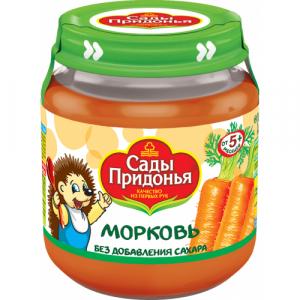 """Сады Придонья"" пюре 'Морковь' без сахара с 5 месяцев 120 г."