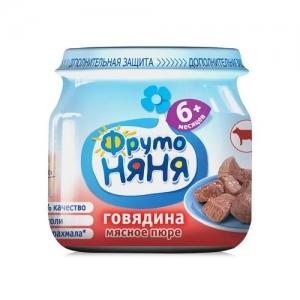 """""""ФрутоНяНя"""" Пюре 80 г. из Говядины с 6 месяцев"""