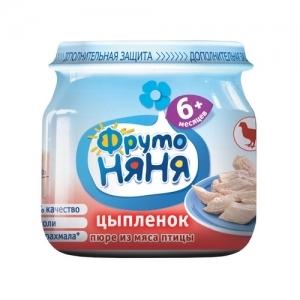 """""""ФрутоНяНя"""" Пюре 80 г. из мяса Цыплят с 6 месяцев"""