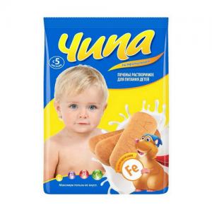 """""""ЧИПА""""-экстрамалышок Железосодержащее печенье растворимое с 5 месяцев  180 г."""