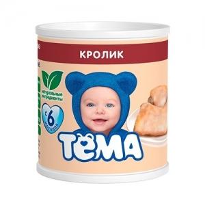 """""""ТЁМА"""" пюре 100 г. мясо Кролика с 6 месяцев"""