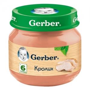 """""""Gerber"""" пюре Кролик с 6 месяцев 80 г."""