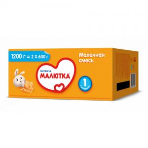"""""""МАЛЮТКА 1"""" молочная смесь с Рождения 1200 г."""