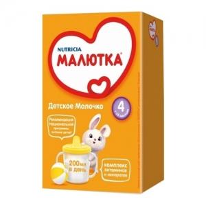 """""""МАЛЮТКА 4""""  детское молочко с 18 месяцев 600 г."""