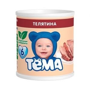 """ТЁМА"" пюре Телятина с 6 месяцев 100 г."