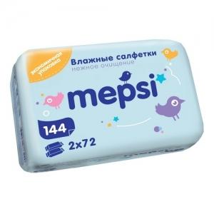 """Mepsi"" влажные салфетки 144 шт.(72 шт х 2)"
