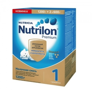"""""""Nutrilon 1"""" сухая Молочная смесь с Рождения 1200 г."""