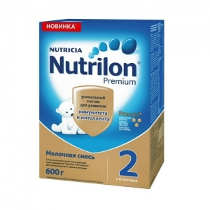 """""""Nutrilon 2"""" сухая Молочная смесь с 6 месяцев 600 г."""