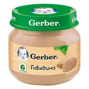"""""""Gerber"""" пюре Говядина с 6 месяцев 80 г."""