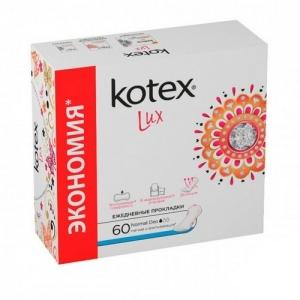 Прокладки Kotex Lux ежедневные Normal Deo 60 шт.