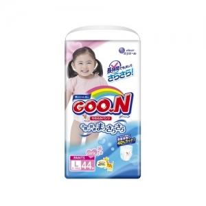 GOO.N трусики-подгузники  для девочек L (9-14 кг) 44 шт.
