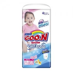 GOO.N Трусики-подгузники для девочек XL (12-20 кг) 38 шт.