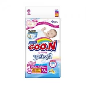 GOO.N Newborn подгузники от 1,8 до 3 кг 36  шт.