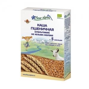 """""""Fleur Alpine"""" ORGANIC каша на Козьем молоке Пшеничная с 5 месяцев 200 г."""