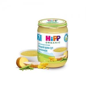 """""""HiPP"""" Овощной крем-суп с цыпленком с 7 месяцев 190 г."""