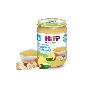 """""""HiPP""""  Мой первый супчик Овощной крем-суп с нежной Телятиной с 6 месяцев  190 г."""