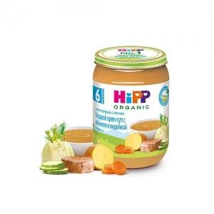 """""""HiPP"""" Мой первый супчик Овощной крем-суп с Кабачком и Индейкой с 6 месяцев 190 г."""