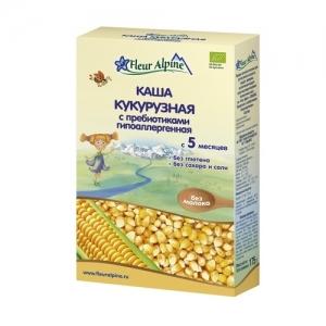 """Fleur Alpine"" ORGANIC каша кукурузная с Пребиотиками с 5 месяцев""  175 г."