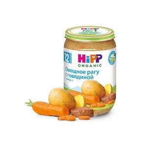 """""""HiPP"""" пюре Овощное рагу с Говядиной БИО с 12 месяцев 220 г."""