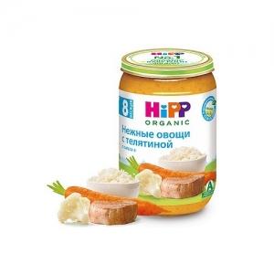 """""""HiPP"""" пюре Нежные Овощи с Телятиной с 8 месяцев 220 г."""