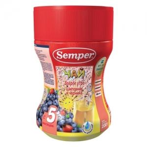 """""""Semper"""" чай Шиповник и Черника. Доброе утро с 5 месяцев 200 г."""