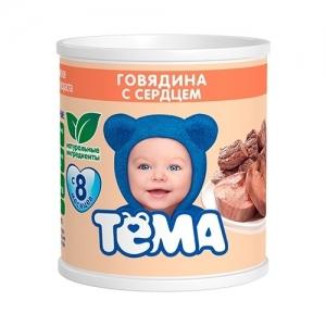 """""""ТЁМА"""" пюре Говядина с Сердцем с 8 месяцев 100 г."""