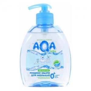 """Жидкое мыло для малыша  0+ """"AQA"""" baby 300 мл. с дозатором"""