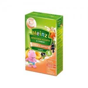"""""""Heinz""""  Пудинг фруктовое ассорти в сливках с 6 месяцев 200 г."""