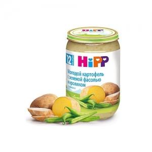"""""""HiPP""""  пюре """"Молодой картофель с зеленой фасолью и кроликом"""" с 12 месяцев 220 г."""