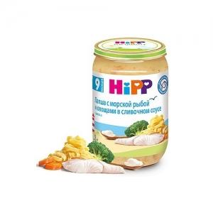 """""""HiPP"""" пюре Лапша с морской Рыбой и Овощами в сливочном соусе 220 г."""