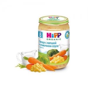 """""""HiPP"""" пюре Овощи с Лапшой в Сливочном соусе БИО с 8 месяцев 220 г."""